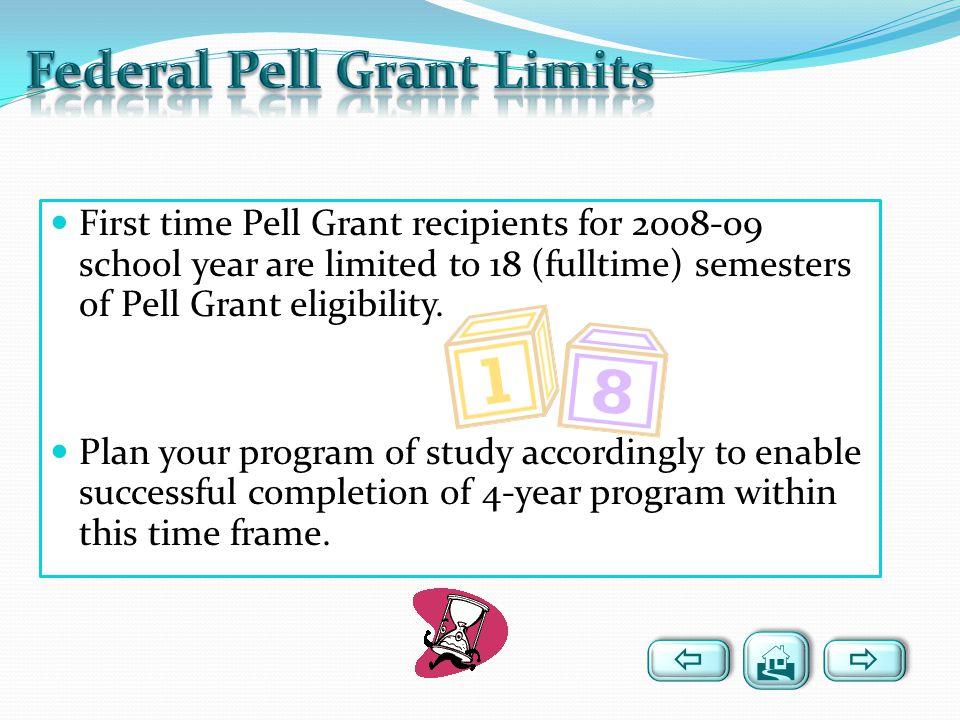 Federal Pell Grant Limits