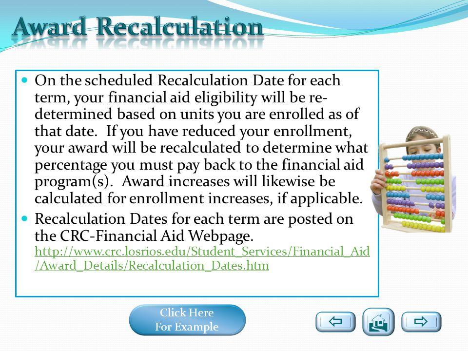 Award Recalculation   