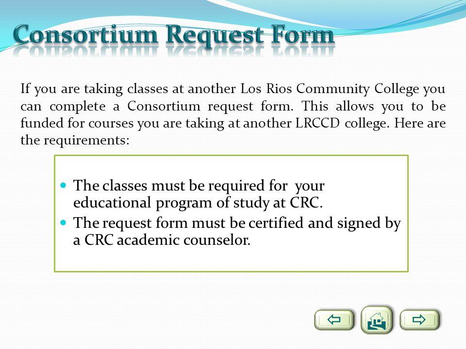 Consortium Request Form