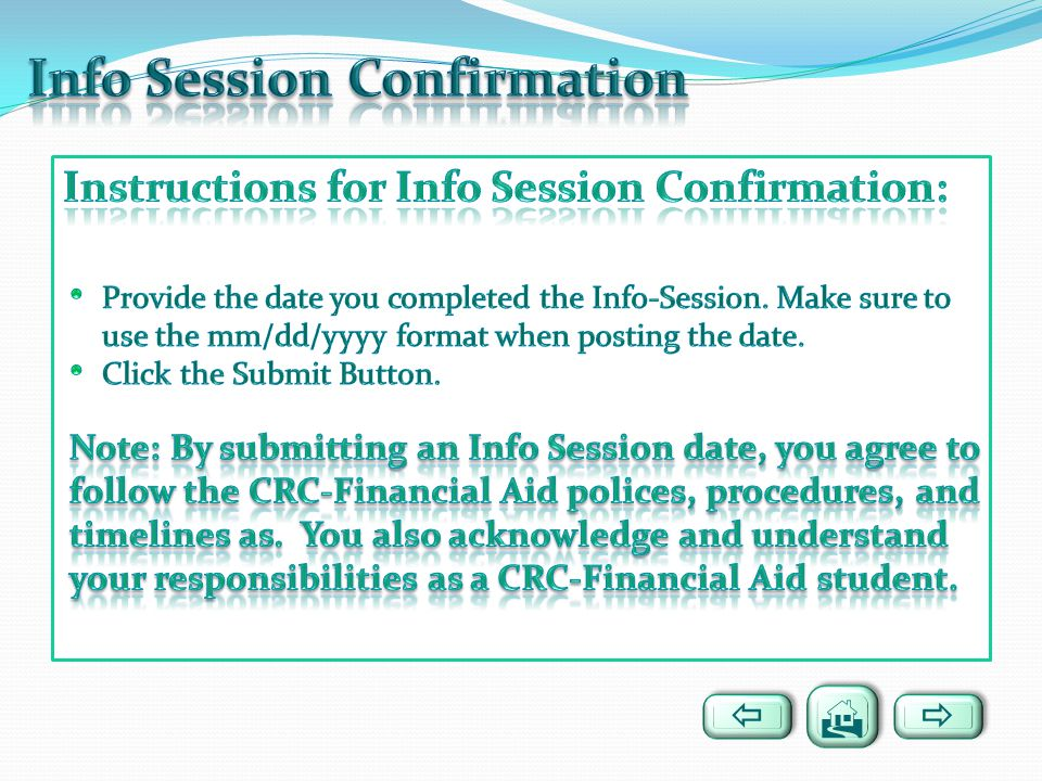Info Session Confirmation