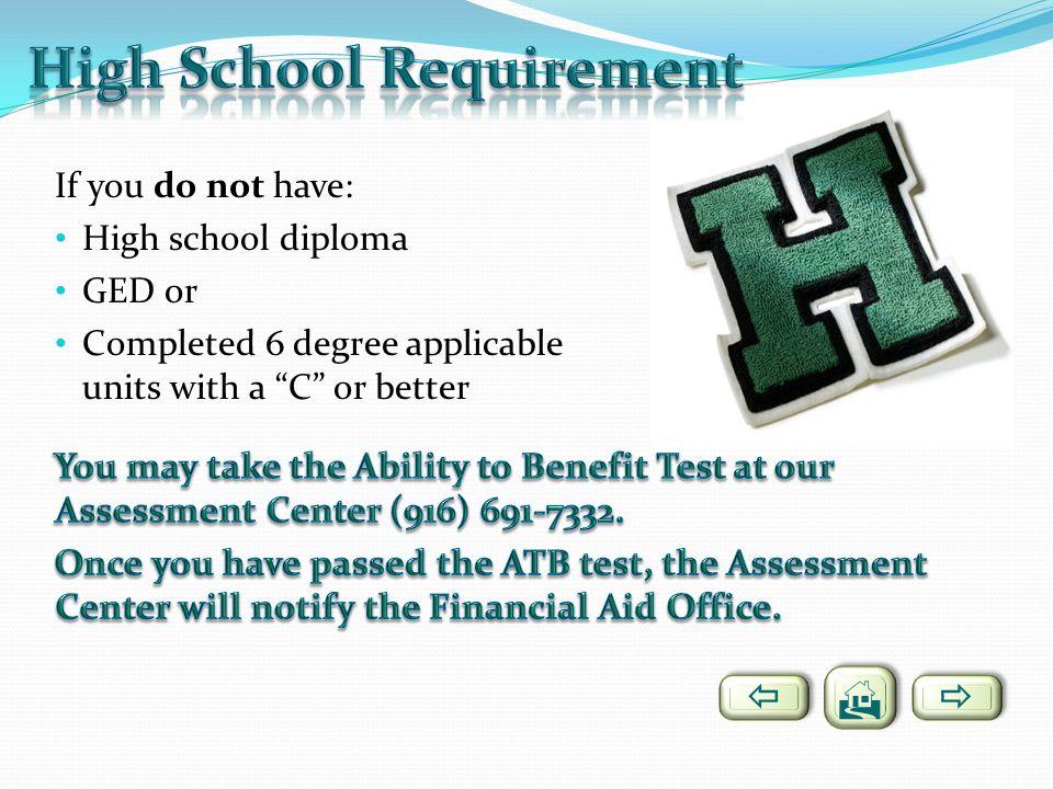 High School Requirement