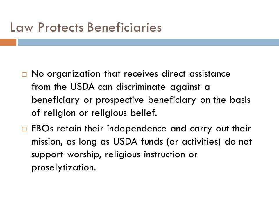 Law Protects Beneficiaries