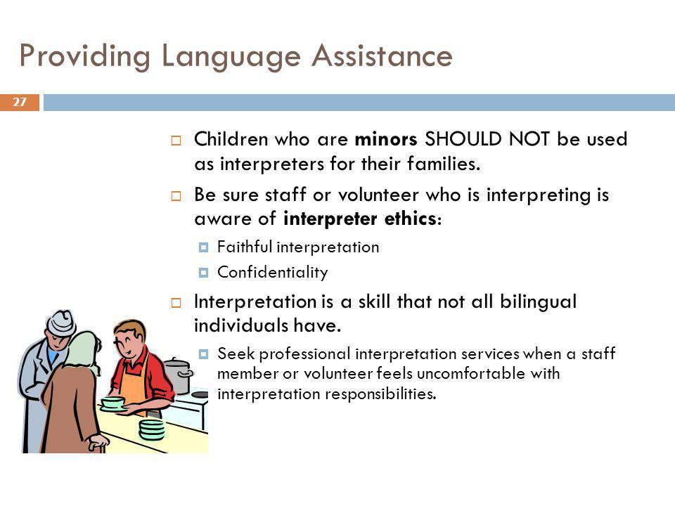 Providing Language Assistance