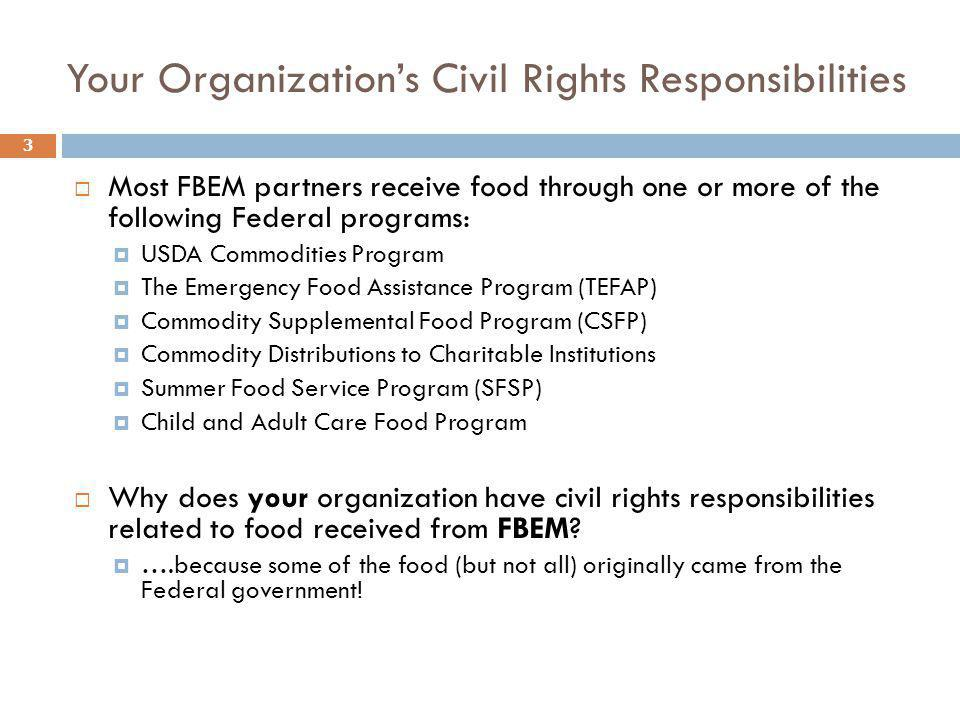 Your Organization's Civil Rights Responsibilities