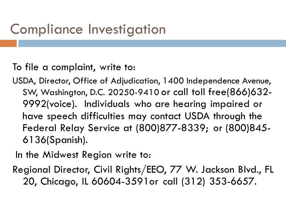 Compliance Investigation