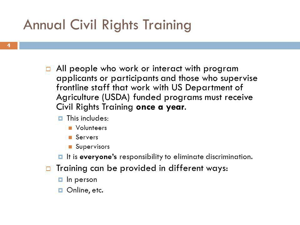 Annual Civil Rights Training