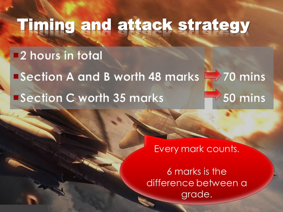 Timing and attack strategy