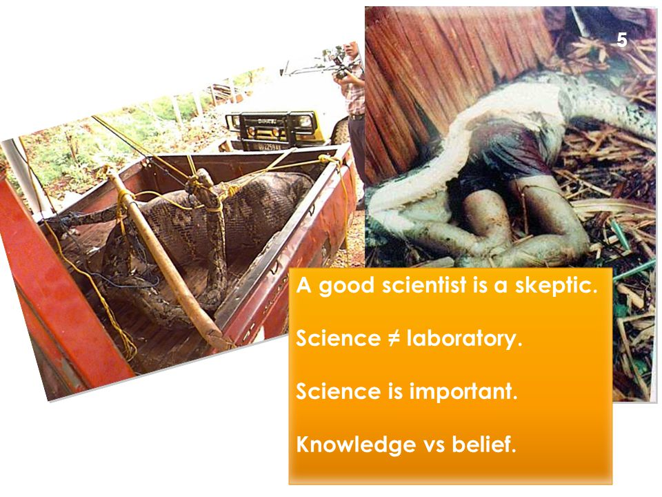 A good scientist is a skeptic. Science ≠ laboratory.