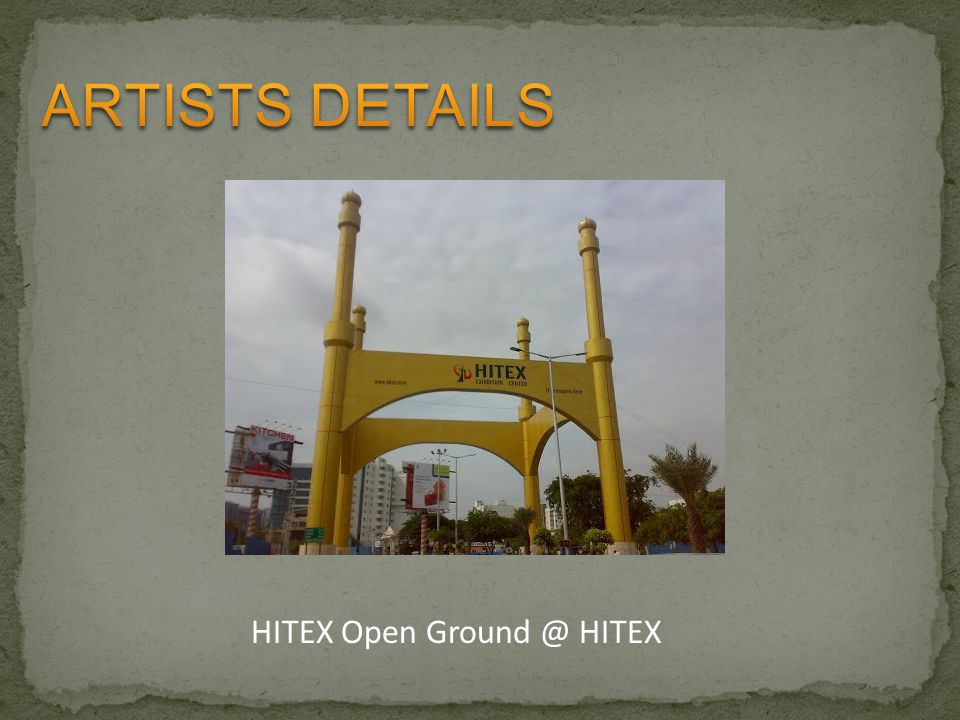 ARTISTS DETAILS HITEX Open Ground @ HITEX