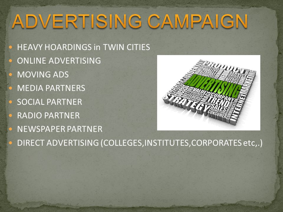 ADVERTISING CAMPAIGN HEAVY HOARDINGS in TWIN CITIES ONLINE ADVERTISING