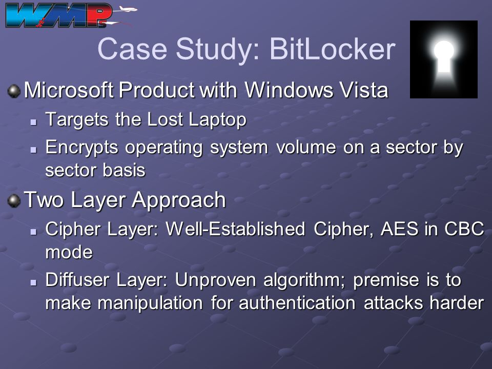 Case Study: BitLocker Microsoft Product with Windows Vista