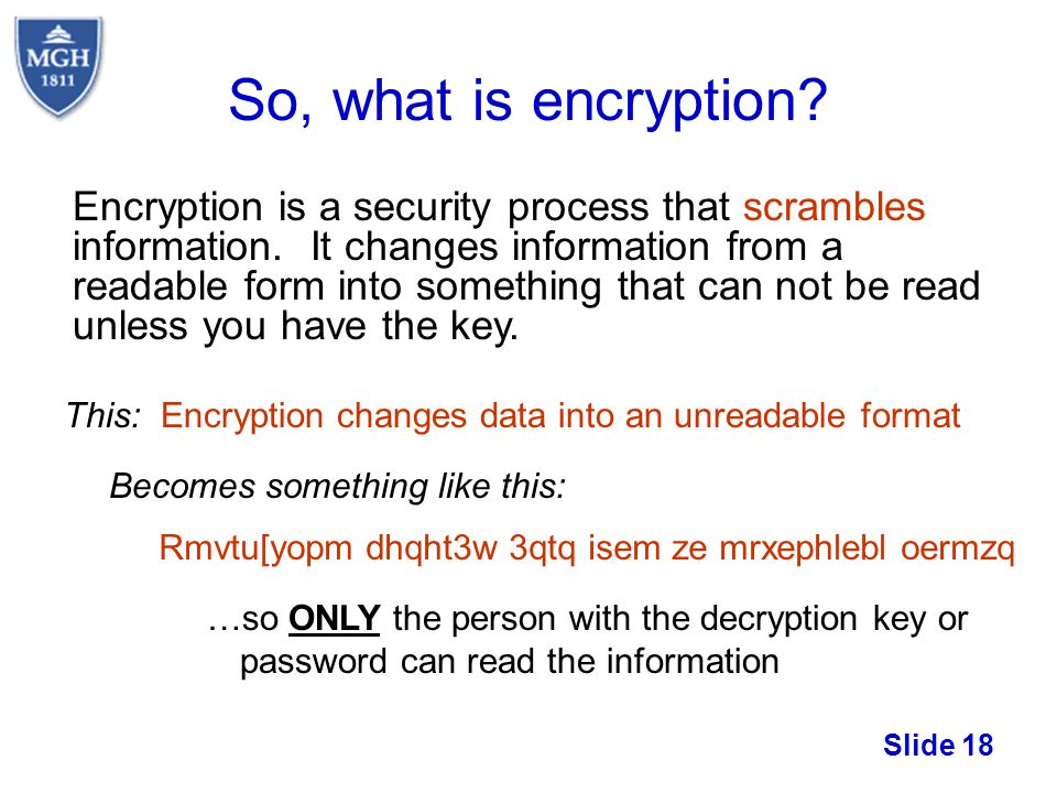 So, what is encryption
