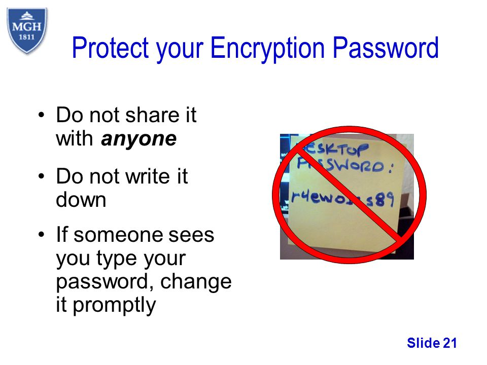 Protect your Encryption Password