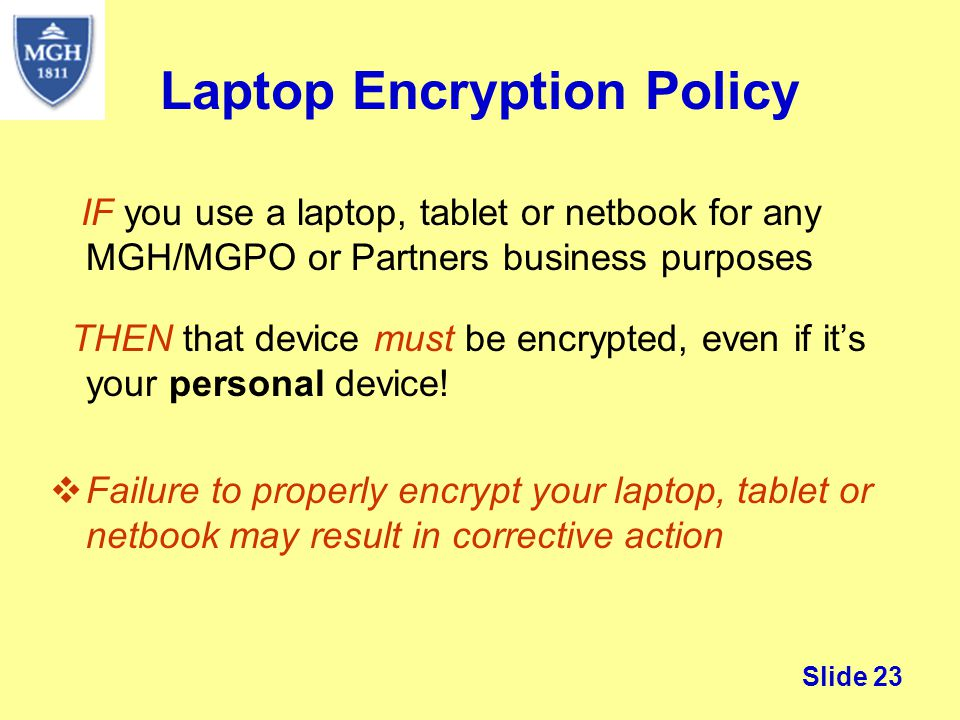 Laptop Encryption Policy