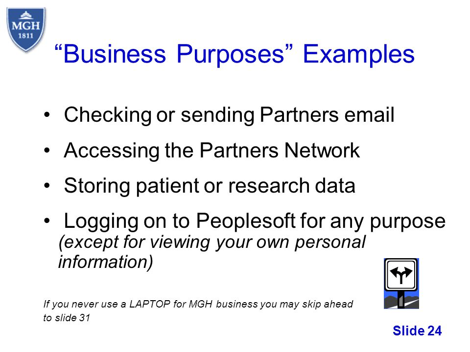 Business Purposes Examples