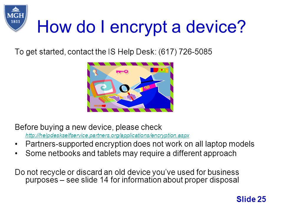 How do I encrypt a device