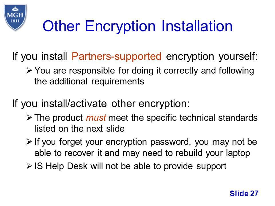 Other Encryption Installation