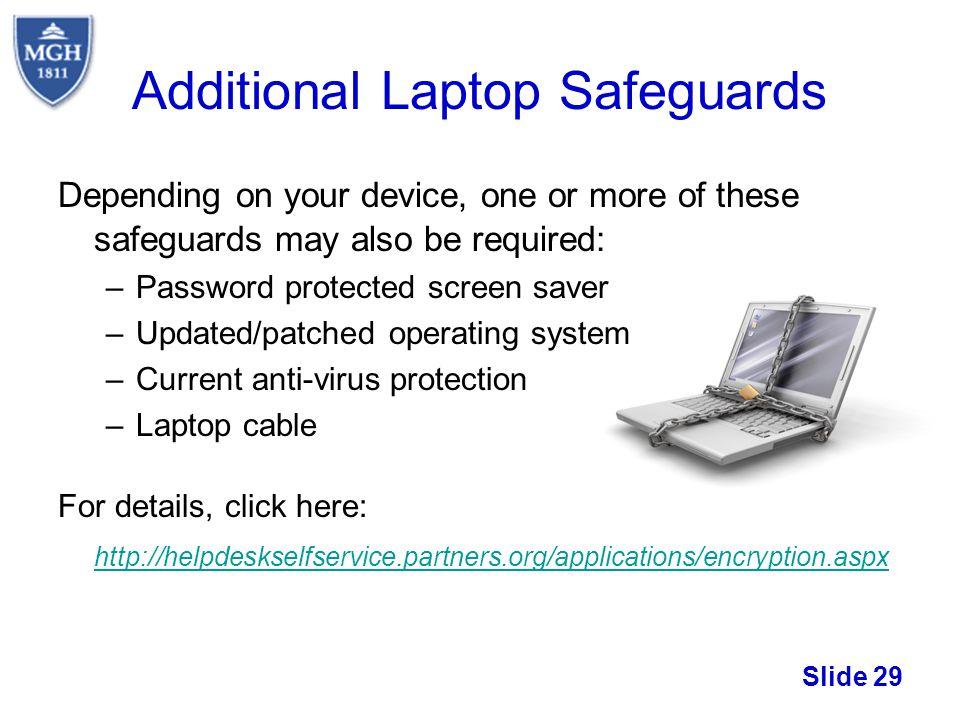 Additional Laptop Safeguards