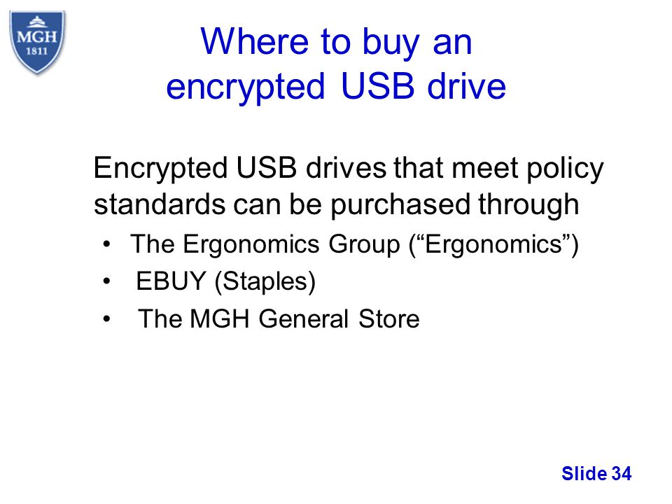 Where to buy an encrypted USB drive
