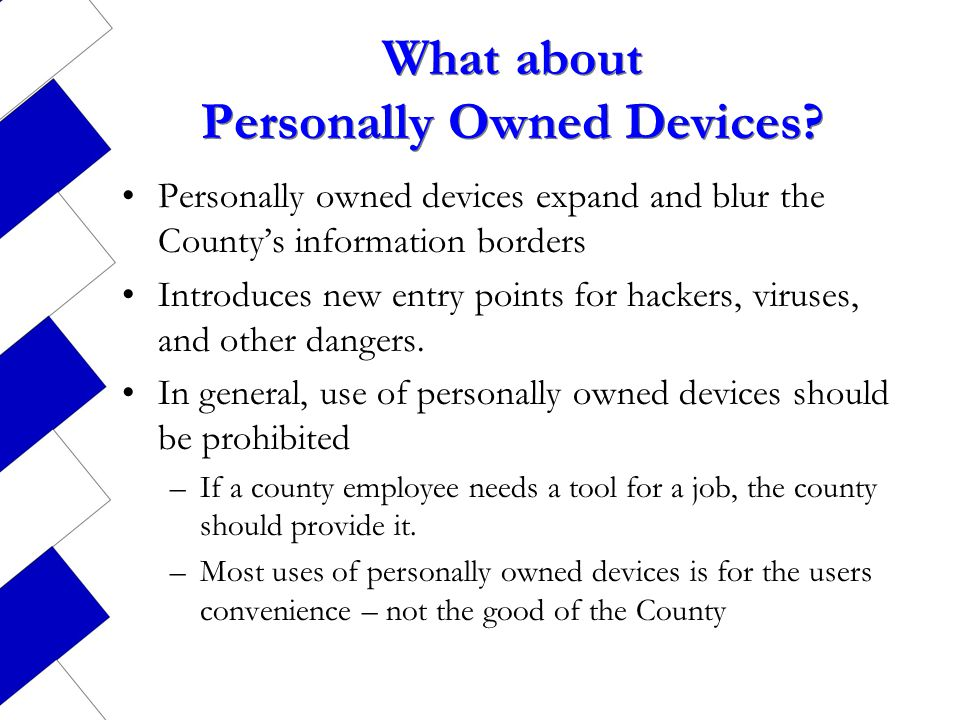 What about Personally Owned Devices