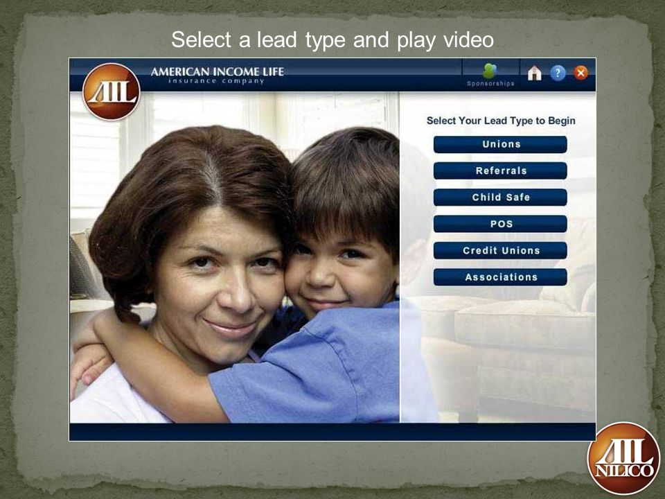 Select a lead type and play video
