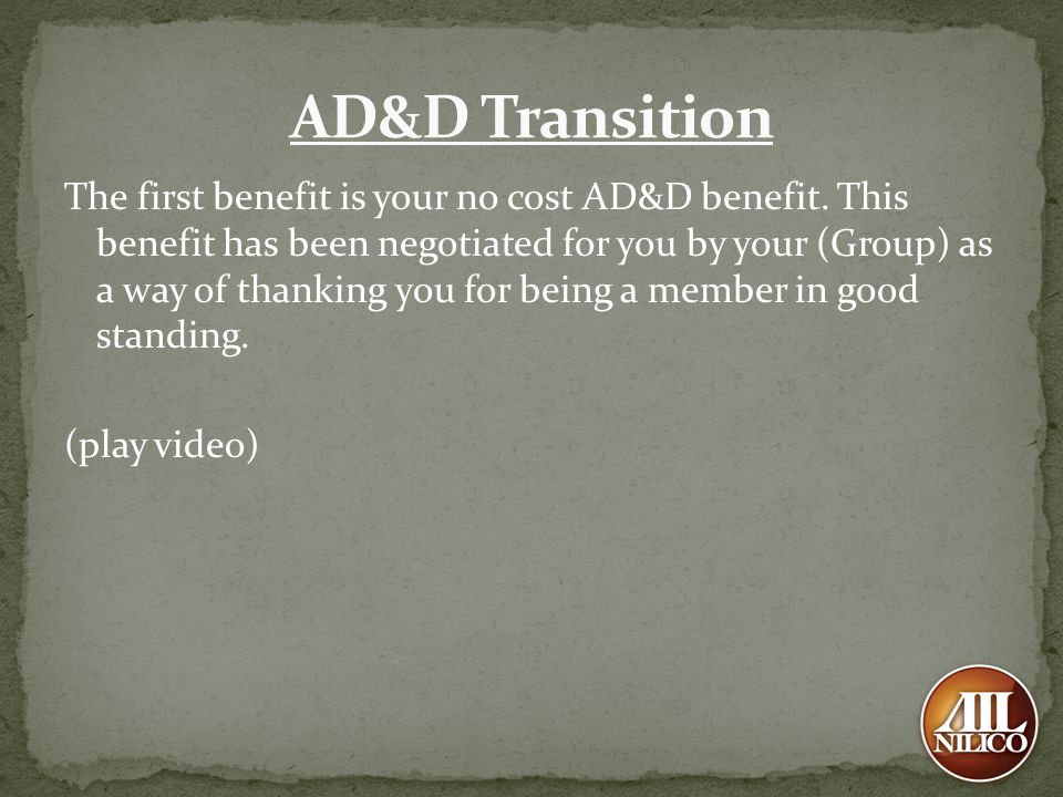 AD&D Transition