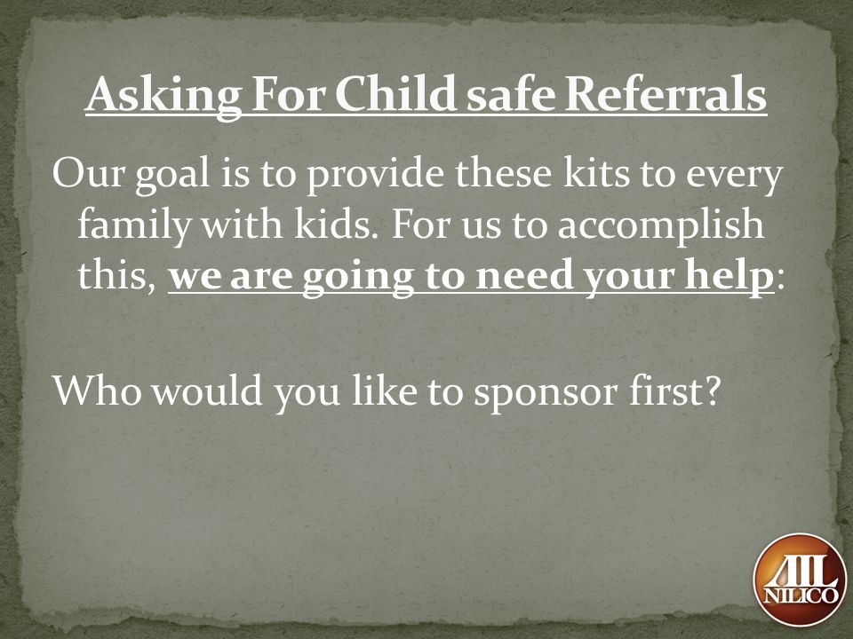 Asking For Child safe Referrals