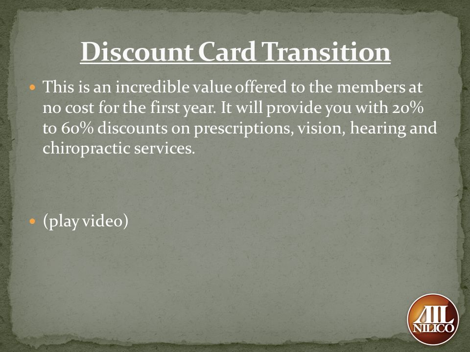 Discount Card Transition