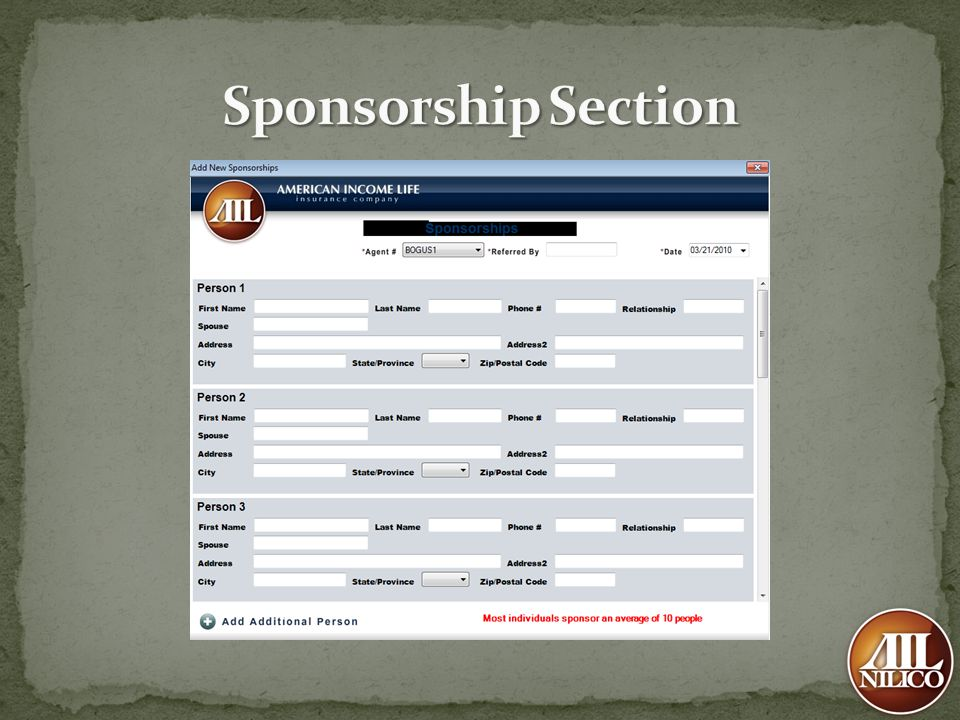 Sponsorship Section