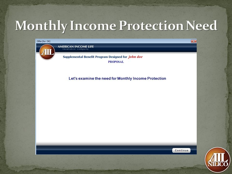 Monthly Income Protection Need