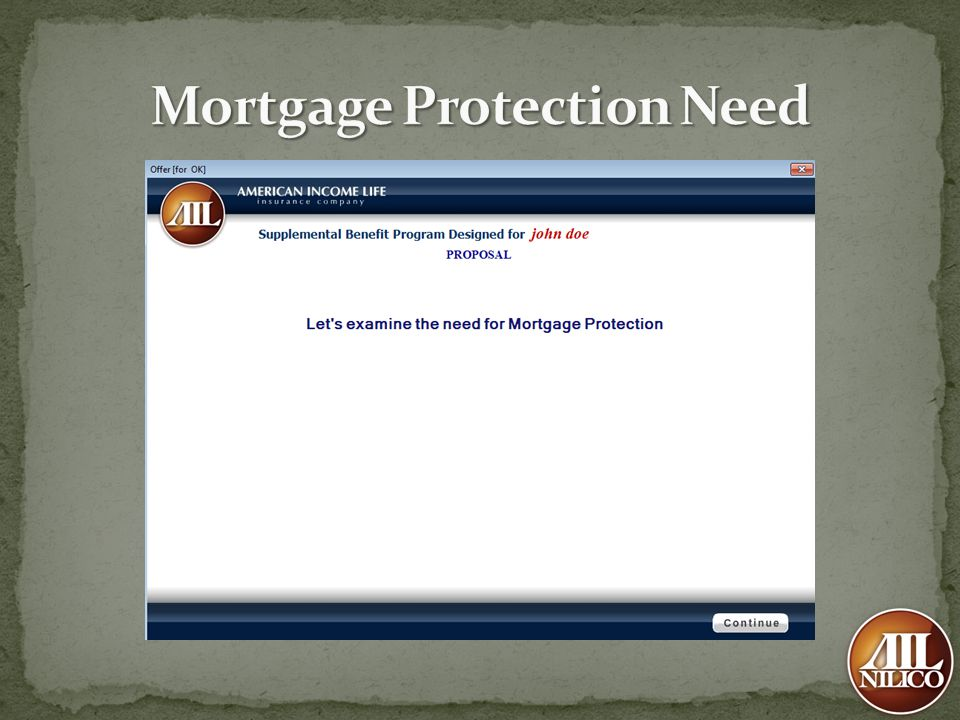 Mortgage Protection Need