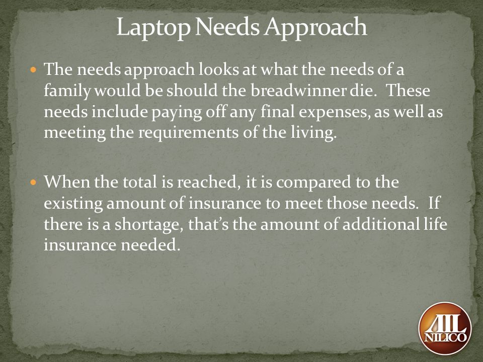 Laptop Needs Approach