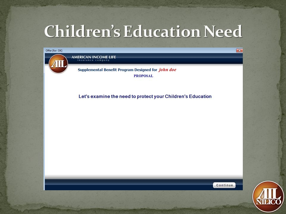 Children's Education Need