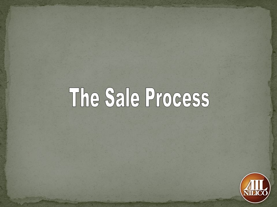 The Sale Process