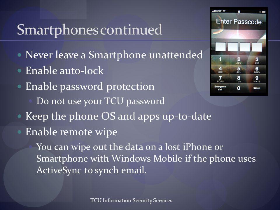 Smartphones continued