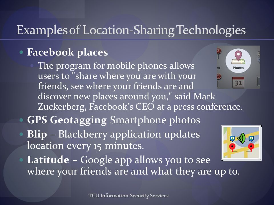 Examples of Location-Sharing Technologies