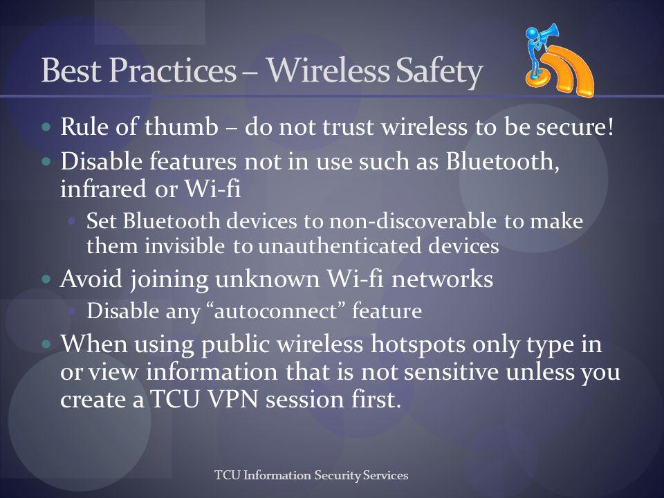 Best Practices – Wireless Safety
