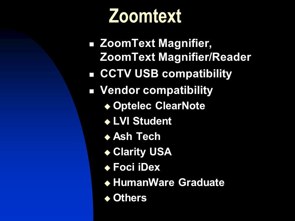 Zoomtext ZoomText Magnifier, ZoomText Magnifier/Reader