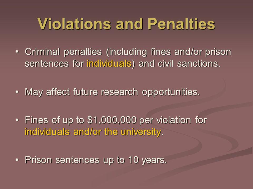 Violations and Penalties