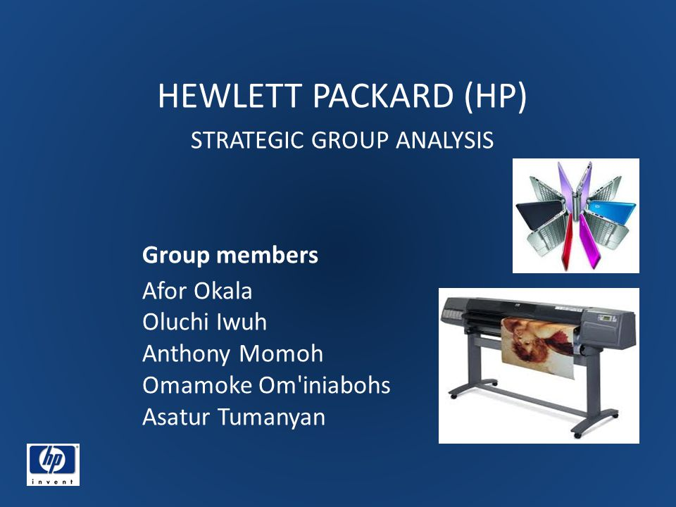 HEWLETT PACKARD (HP) STRATEGIC GROUP ANALYSIS