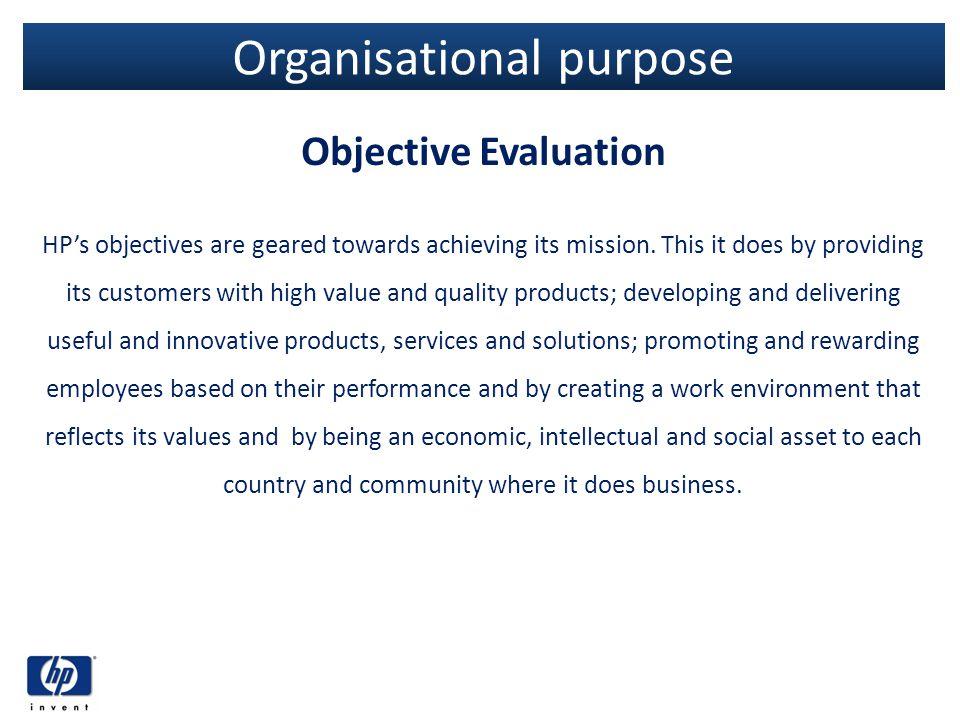 Organisational purpose