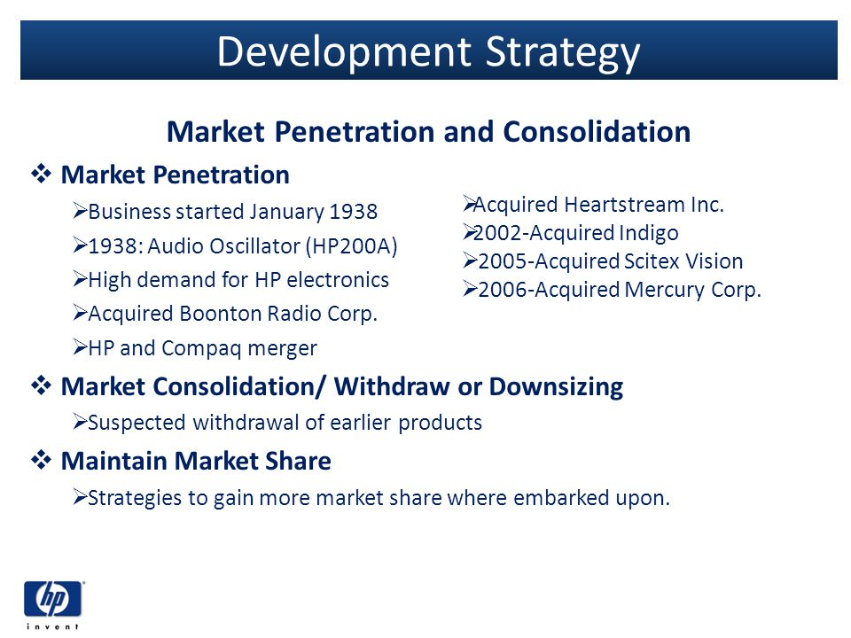 Market Penetration and Consolidation