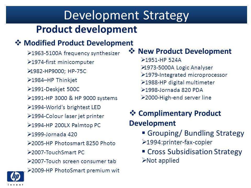 Development Strategy Product development Modified Product Development