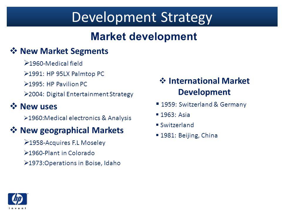 International Market Development