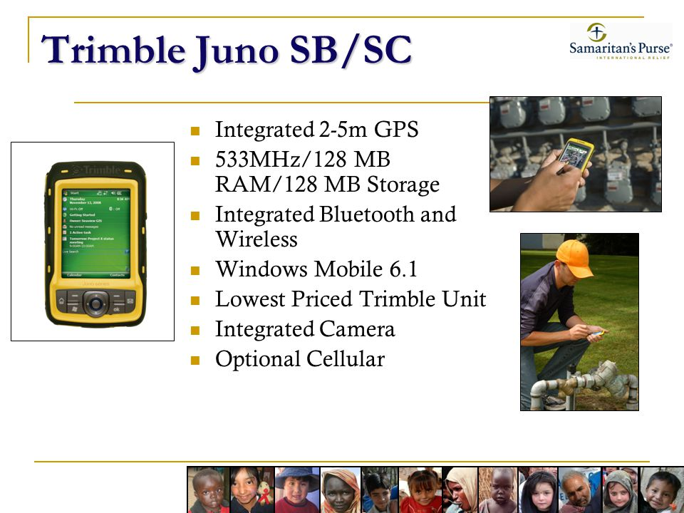Trimble Juno SB/SC Integrated 2-5m GPS