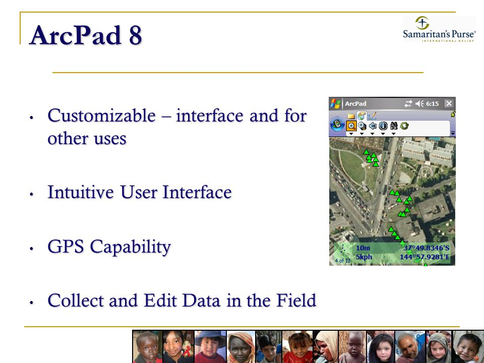 ArcPad 8 Customizable – interface and for other uses