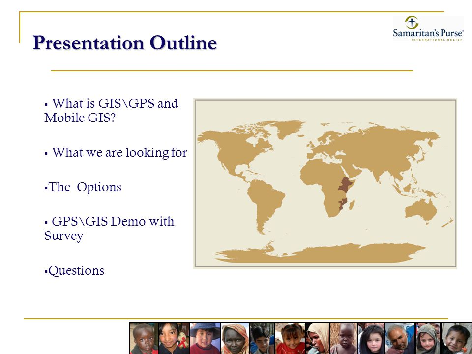 Presentation Outline What is GIS\GPS and Mobile GIS