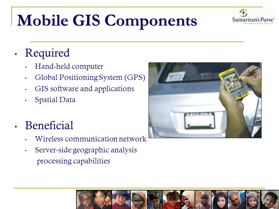 Mobile GIS Components Required Beneficial Hand-held computer