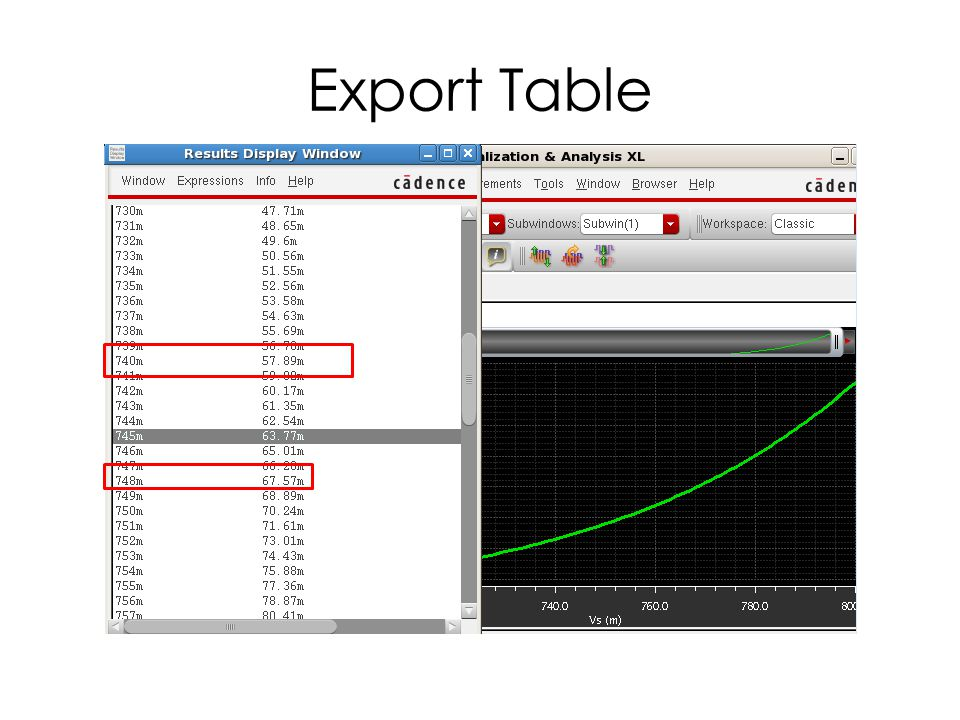 Export Table