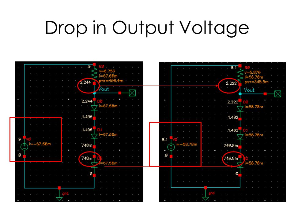 Drop in Output Voltage
